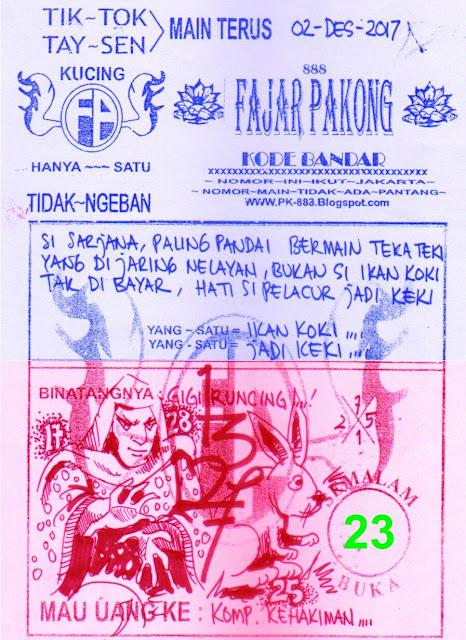 SYAIR FAJAR PAKONG 888