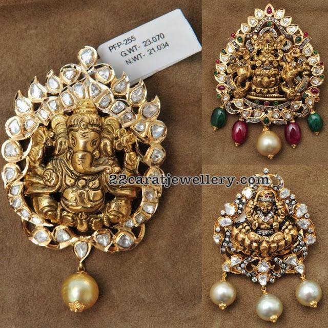 23 Grams Ganesh Lakshmi Lockets