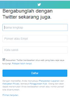Cara Daftar Twitter Lewat Laptop dan Hp