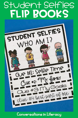 Back to School Writing Activities Student Selfies Flip Book