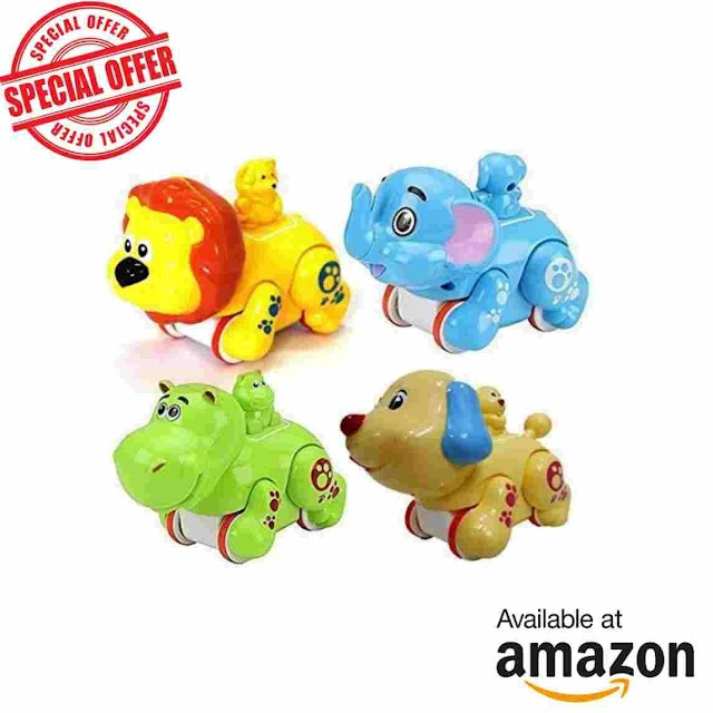 Amazon deals–Colorful Funny Animal Toy Set for Kids at Rs.40 only
