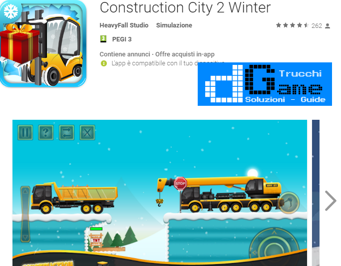 Trucchi Construction City 2 Winter Mod Apk Android v1.0.1