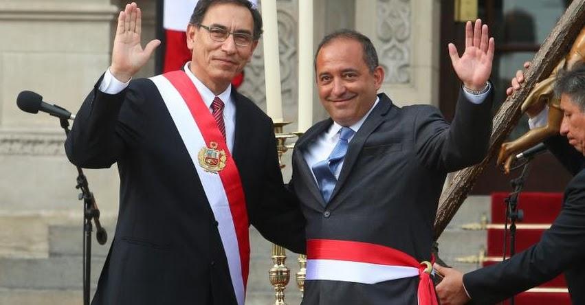 PRODUCE: Daniel Córdova Cayo juramentó como nuevo Ministro de la Producción (2 Abril 2018) www.produce.gob.pe