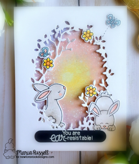Ear-resistable Bunny Card & Video by Maria Russell | Bitty Bunnies Stamp Set by Newton's Nook Designs #newtonsnook #handmade
