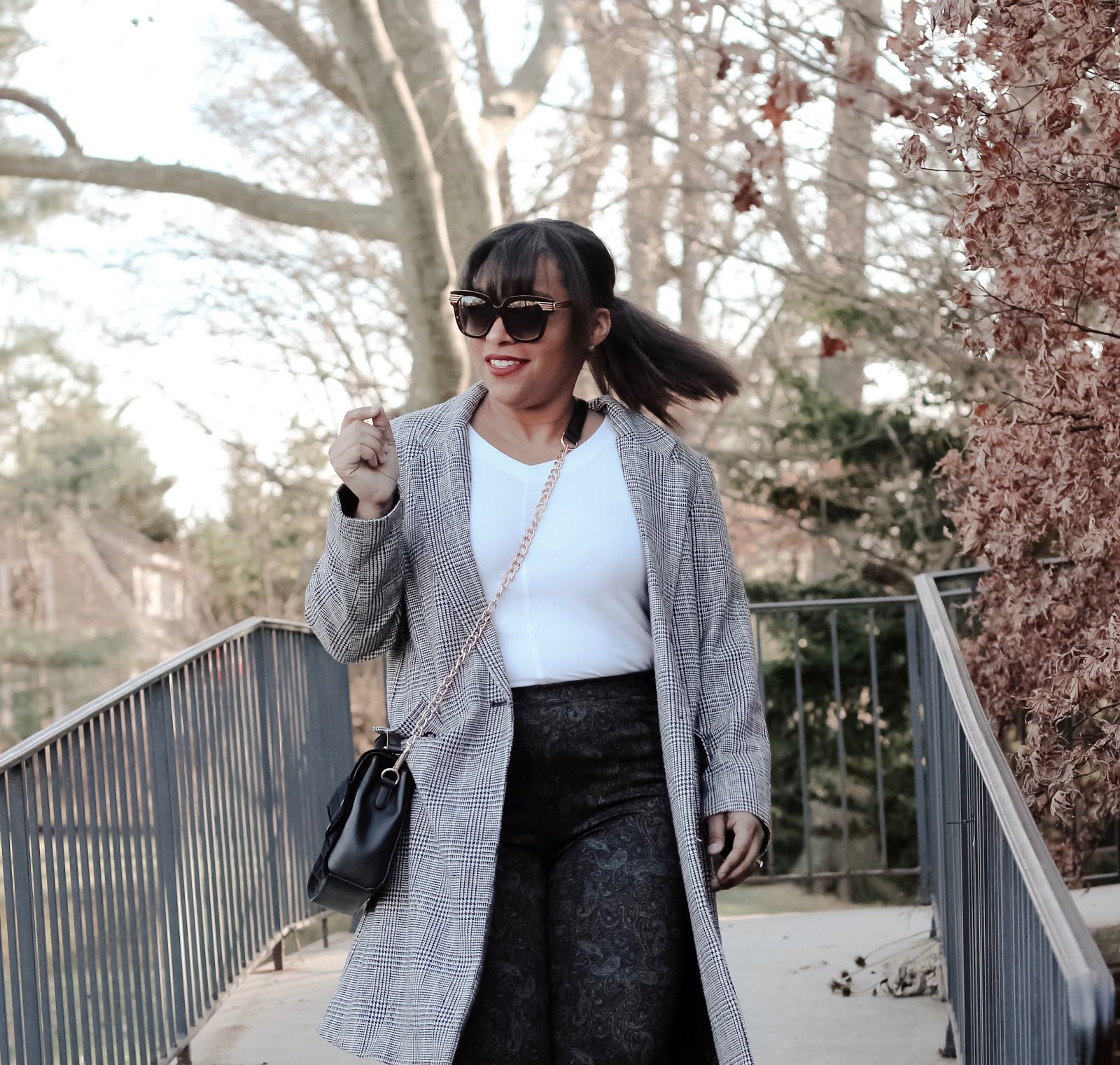 new wardrobe, oversized coat, printed pants, fall outfits, mom bloggers, fashion bloggers