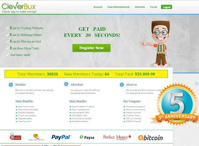 شرح الشركة العملاقة Cleverbux الأفضل في مجال الضغط علي الاعلانات | الحد الادني 2 دولار