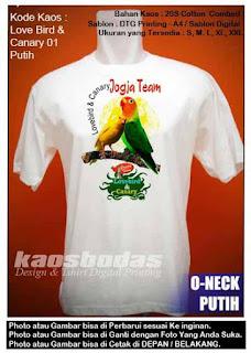 Kaos Lovebird & Canary 01
