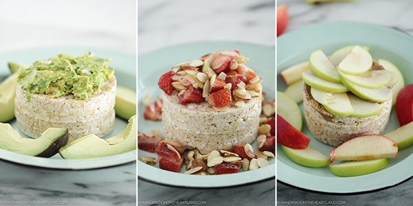 3 combinations for how to top a rice cake