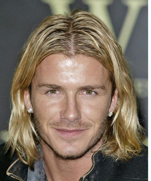 David Beckham Lange Haare