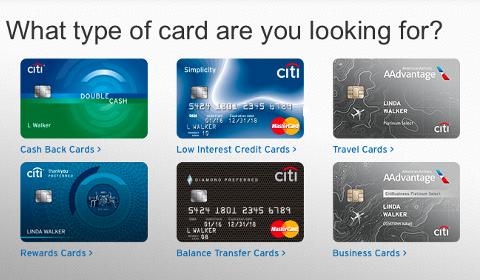 Cartes de crédit Citi
