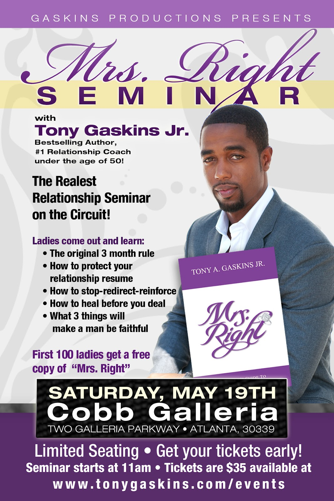 Mrs Right Seminar With Relationship Coach Tony Gaskins Jr