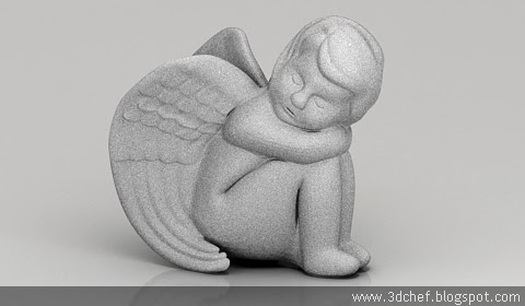 free 3d model angel figurine