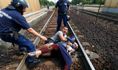 Pengungsi Suriah di Hungaria: Sudah menderita, dikejar-kejar aparat pula