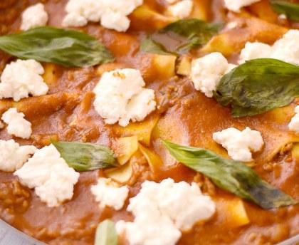 Pan-fried lasagna
