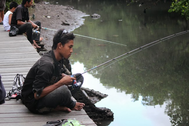 El pescador con la caña