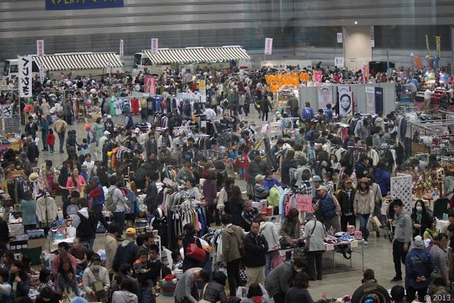 Manmos Flea Market at Port Messe Nagoya, Aichi Pref.