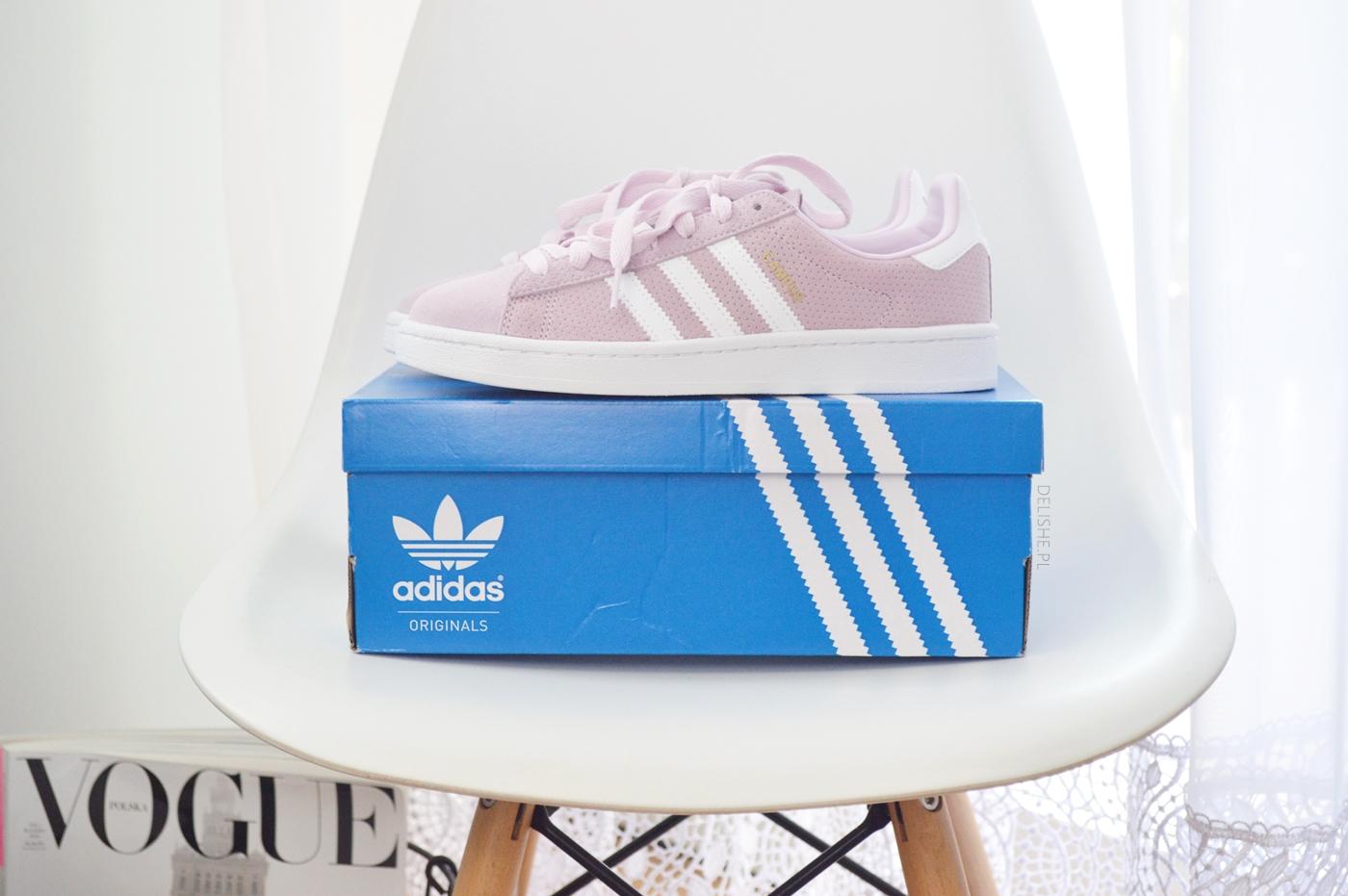adidas campus różowe buty sportowe delishe