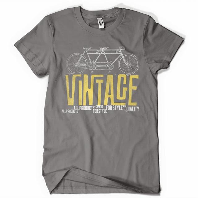 vintage bike t shirt design