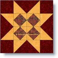 Diamond Star quilt block