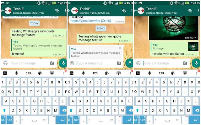 WhatsApp testing fitur barunya quote message, penasaran?