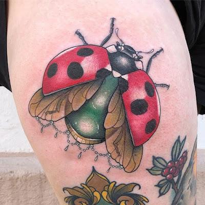 Ladybug Heart Tattoo