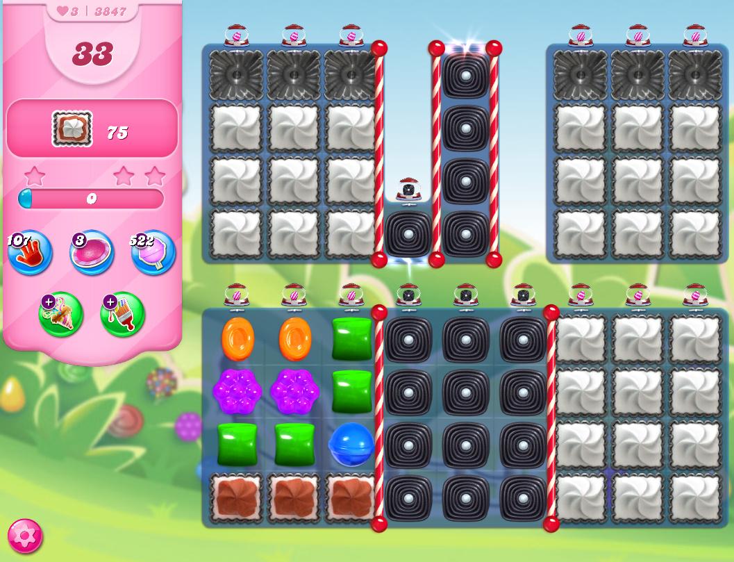 Candy Crush Saga level 3847