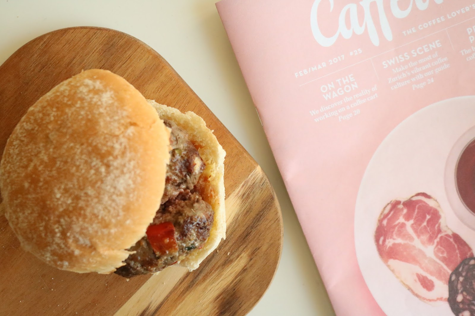 BEEF BURGERS WITH BASIL & CHILLI
