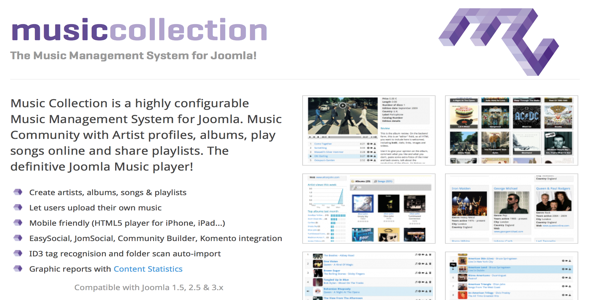 Music Collection PRO v2.4.8 – Extension For Joomla 3.x