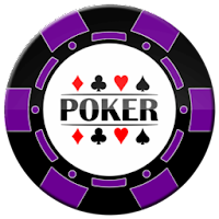purple and black poker chip