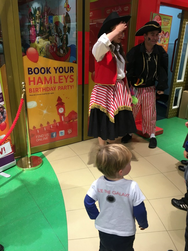 toddler-at-Hamleys-Cardiff-waiting-to-go-into-party-room