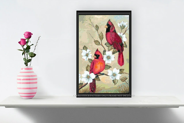 Cardinals Cross Stitch Pattern