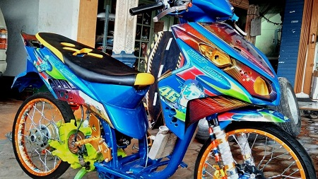Modifikasi motor honda scopy