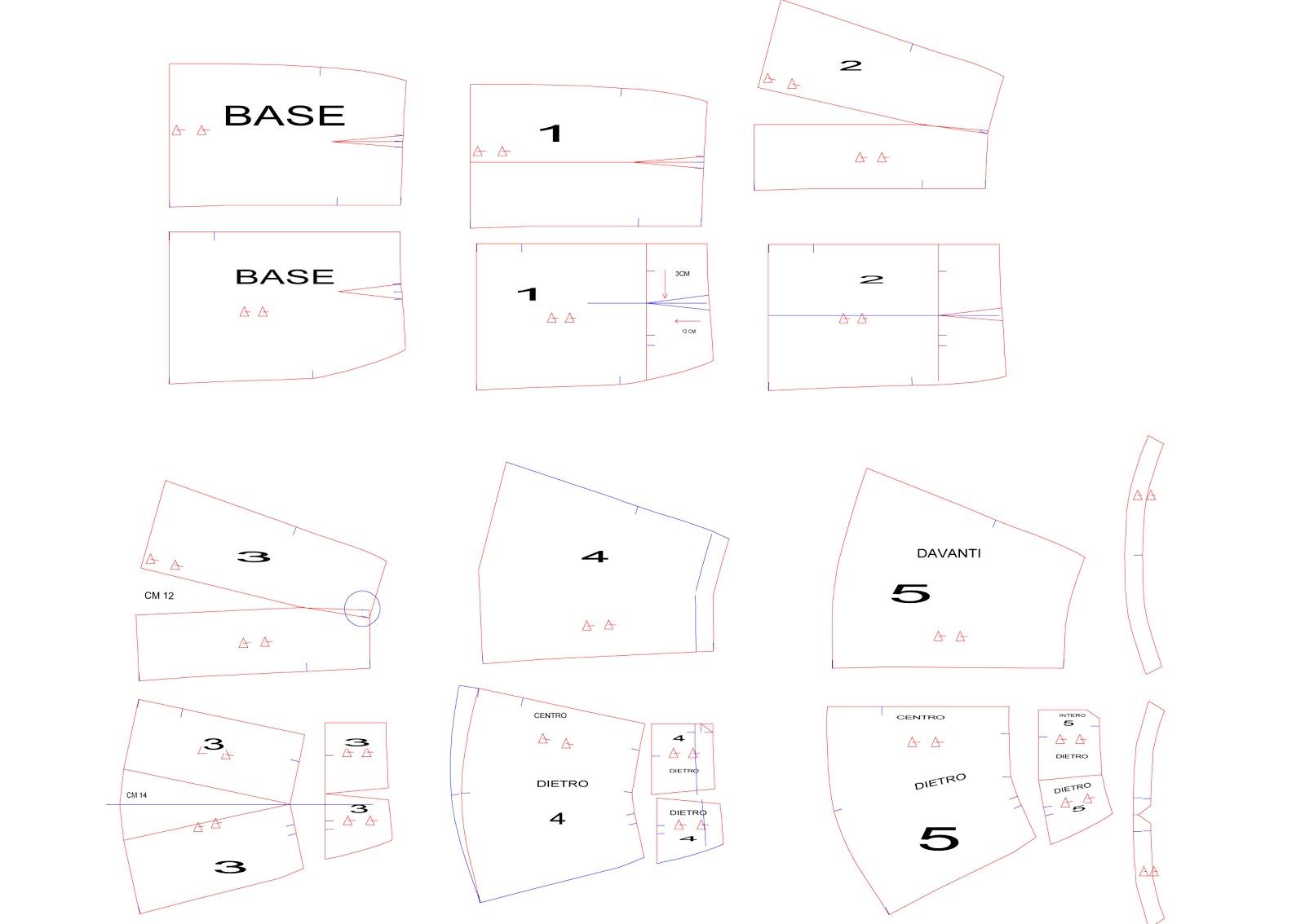 Amato passo a passo: creiamo il cartamodello gonna tipo Pinko ~ lilac  MX99