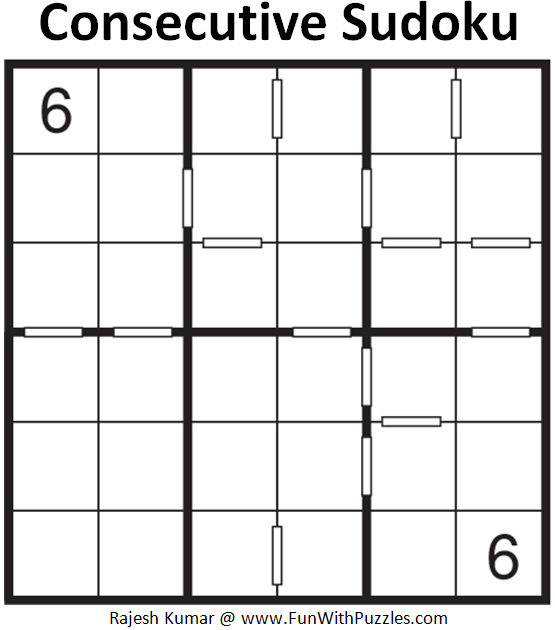 Consecutive Sudoku (Mini Sudoku Series #73)