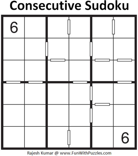 Consecutive Sudoku (Mini Sudoku Series #73)