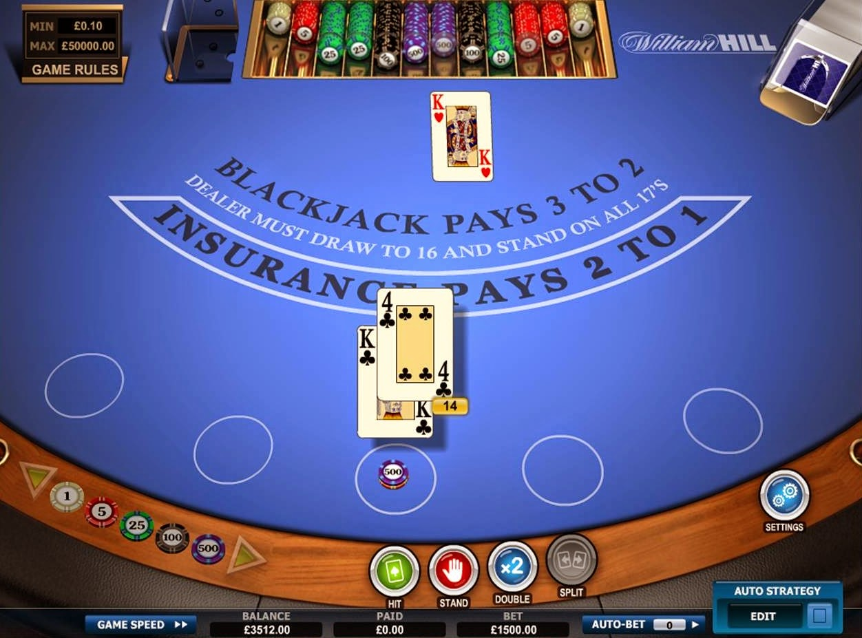 William Hill Blackjack Screen