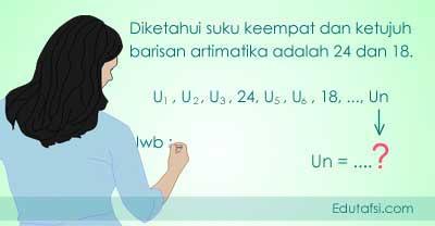 Menentukan rumus Un jika beda tidak diketahui