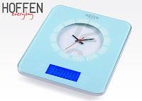 Waga kuchenna z zegarem Hoffen everyday z Biedronki niebieska
