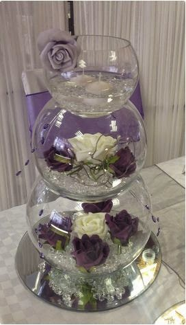 multilevel wedding fish bowls, decorative fish bowl decorations ideas