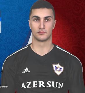 PES 2017 Faces Araz Abdullayev by Huseyn