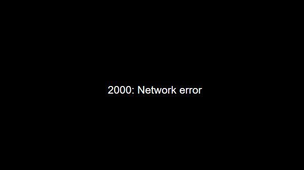 2000 Network Error Twitch