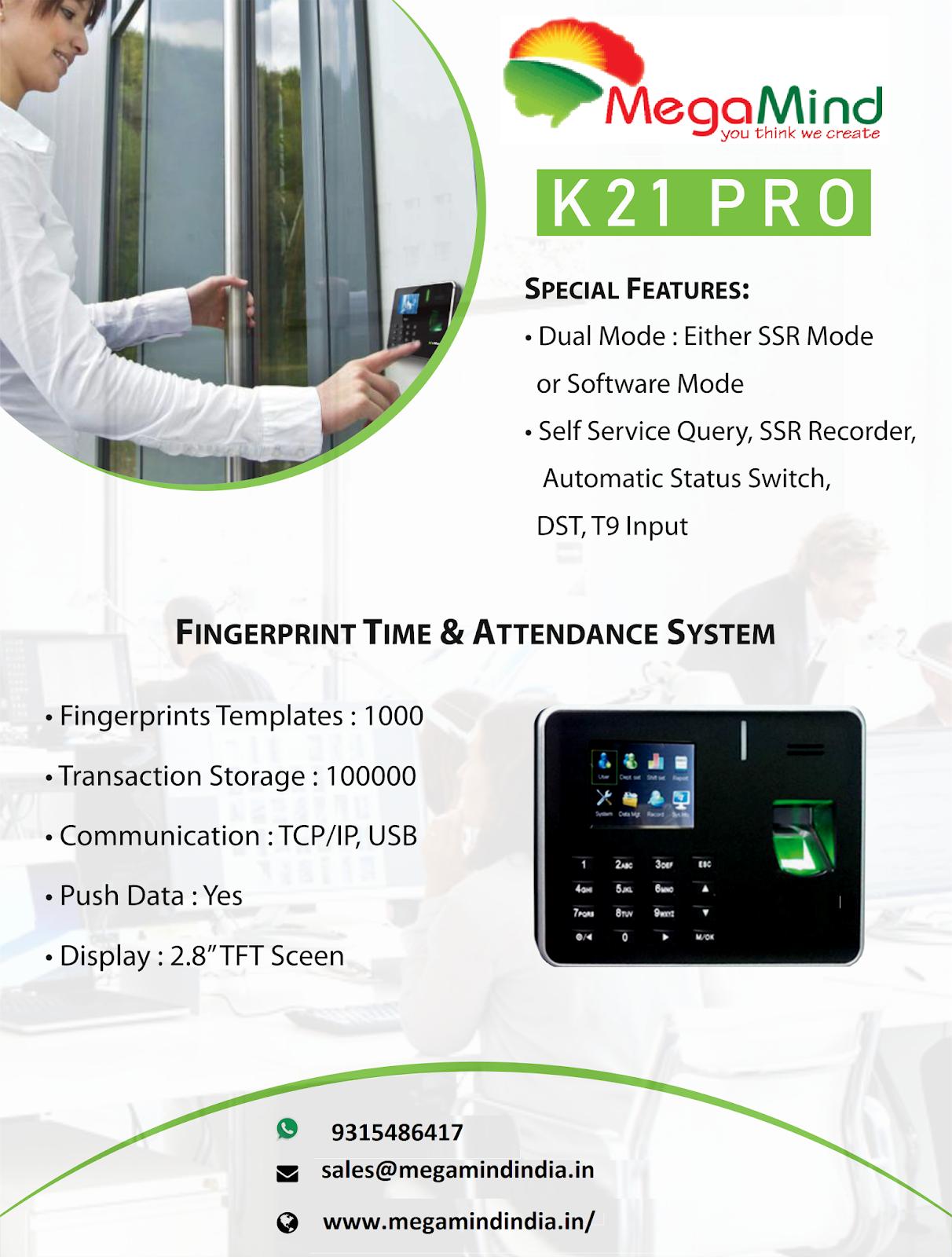 MegaMind Technosoft: Biometric Attendance System and