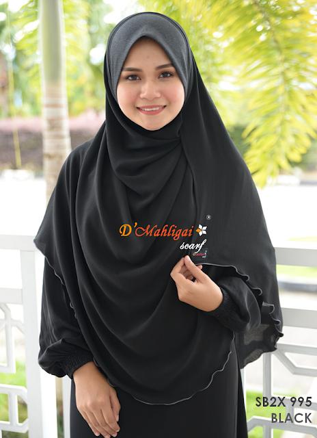 Shawl Labuh Chiffon Bubble XXL 3.0