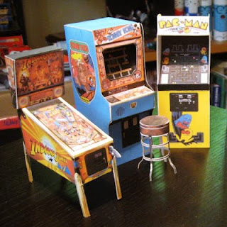 Mini Papercraft Arcade Machines
