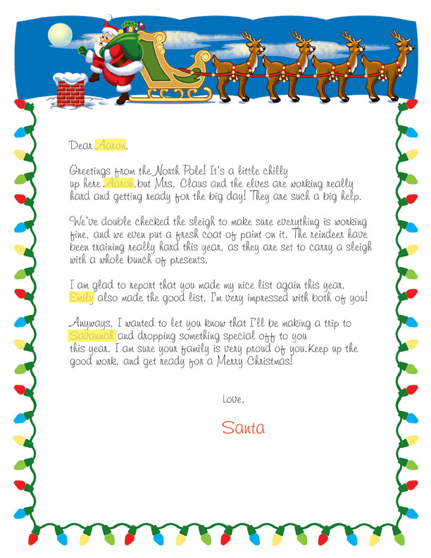 Ducks in a Row: Personalized Letter from Santa