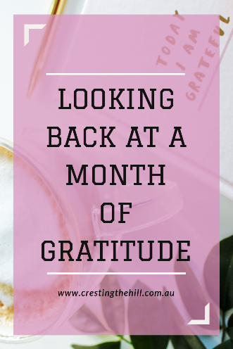 I took on the 30 Day November Gratitude Challenge and this is how it worked for me.