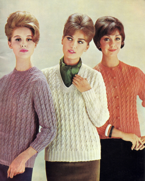 The Vintage Pattern Files: 1970's Knitting - Cable Jumpers ...