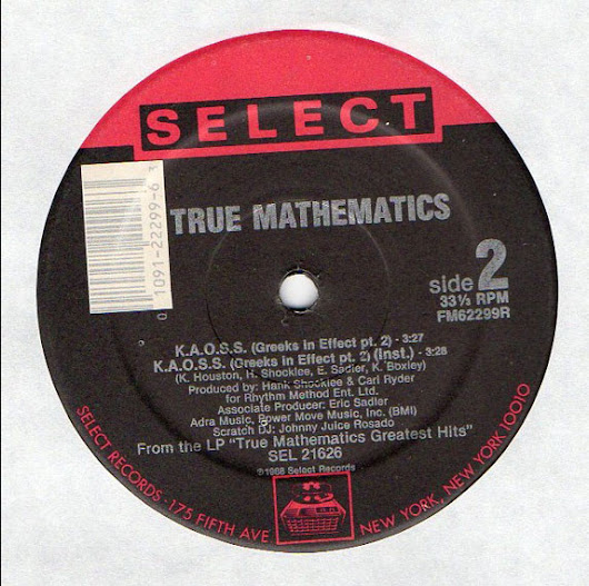 True Mathematics ‎- For The Money (Remix) / K.A.O.S.S. (Greeks In Effect Pt. 2) (Single 12-1988) 320