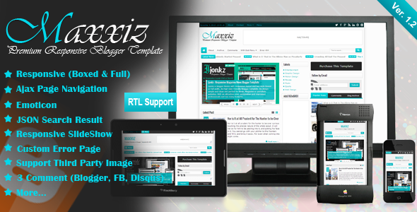 Free Download Maxizz Responsive Blogger Template Gratis