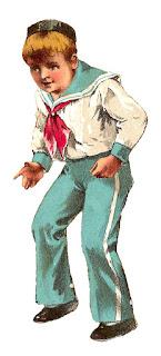 boy sailor antique illustration digital image